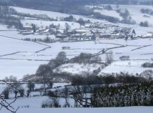"""This could have been labled """"random snowy village""""."""