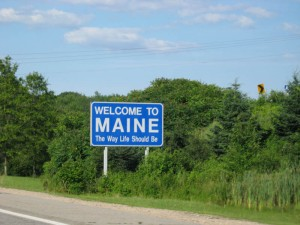 Yup, we finally got the Maine sign!