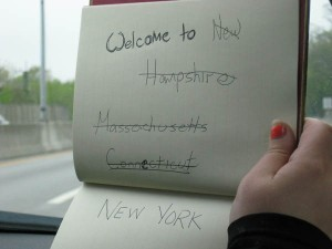 We crossed out the past states, because each state needed it's own welcome