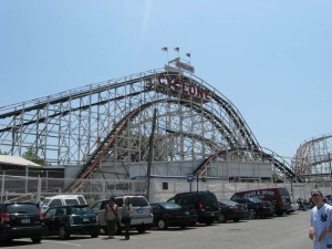 An actual rollercoaster!
