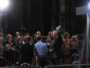 Alan Rickman giving the fans some attention.  He's awesome.