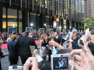 Look!  It's blurry Emma Watson and the back of Rupert Grint's head!