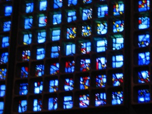 The blurryness is due to my wobbly camera, not the stained glass.