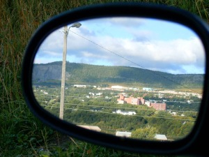 Corner Brook in my rear-view mirror...