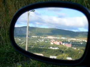 Corner Brook in my rear-view mirror...
