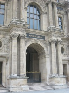 That's all I got to see of the Louvre - the OUTSIDE!