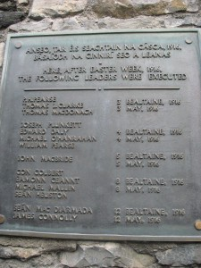 The names of the Easter Rising Leaders who were executed.