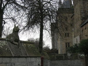 Keeping guard at Cardiff Castle.