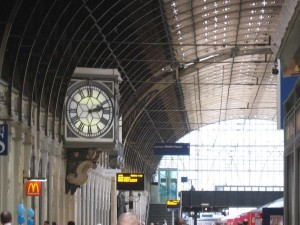 At Paddington Station, where we've got nothing but time.