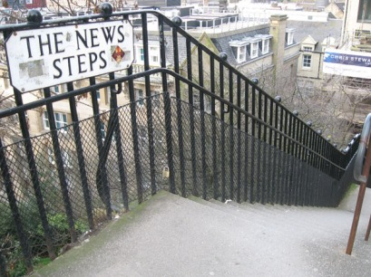 Here's some news - there's a lot of stairs in Edinburgh.