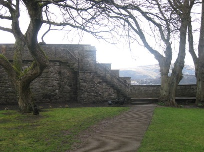 The wall of Stirling Castle.