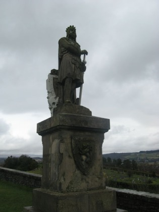 Robert the Bruce guarding Stirling Castle.