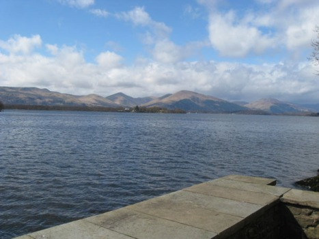 Loch Lomond - At least the view was free.
