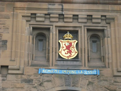 Crest above Edinburgh Castle