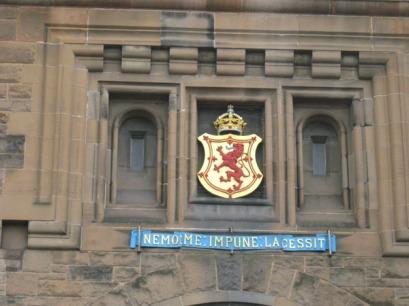 Crest above Edinburgh Castle