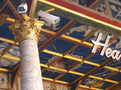 The Heavens (the roof) and security cameras (not authentic).