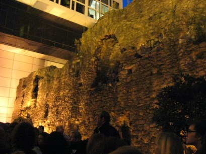 The London Wall - built by Romans to mark the city's boundary.