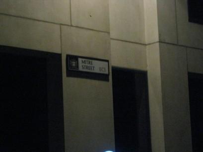 Mitre Square, where Catherine Eddowes' body was found.
