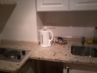 Of course there would be a kettle.