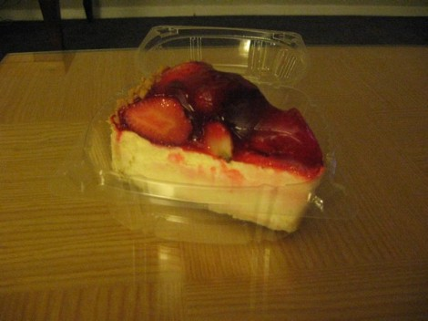 BAM - Strawberry cheesecake from Junior's.