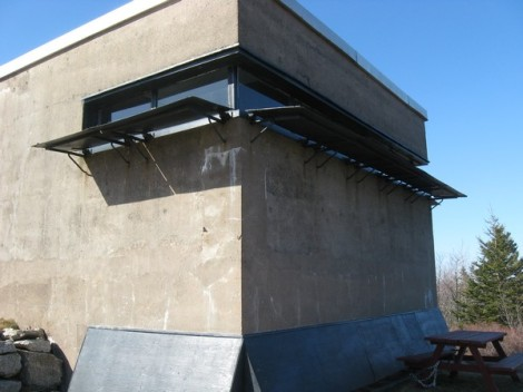 Building with a secret entrance.