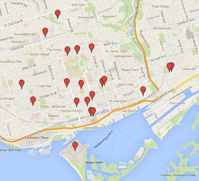 The map - so far.