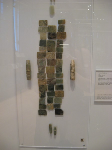 Part of a jade burial suit.