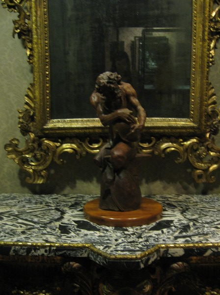 Statue of Vulcan w/mirror and end table.