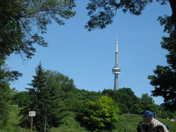 Title: Beautiful day with CN Tower in the background.